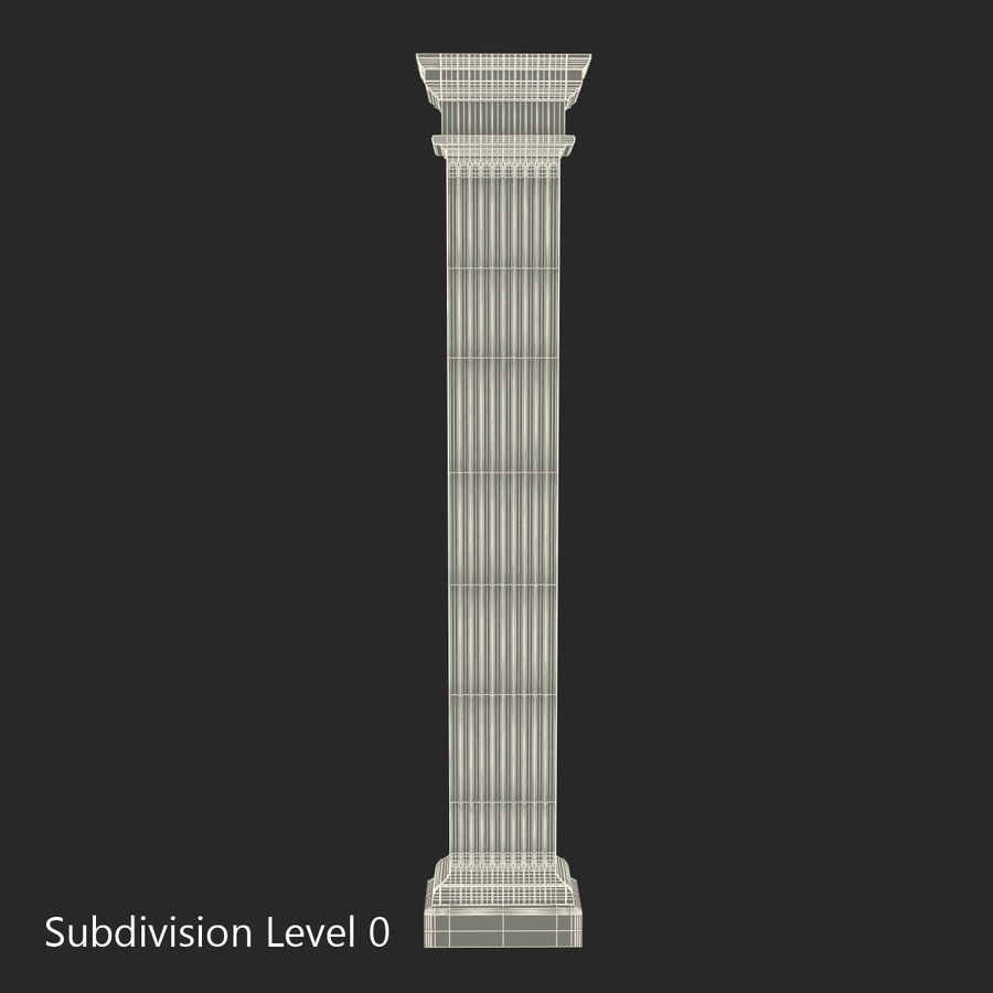 Pilaster Doric Greco Roman 3 3D Model royalty-free 3d model - Preview no. 12