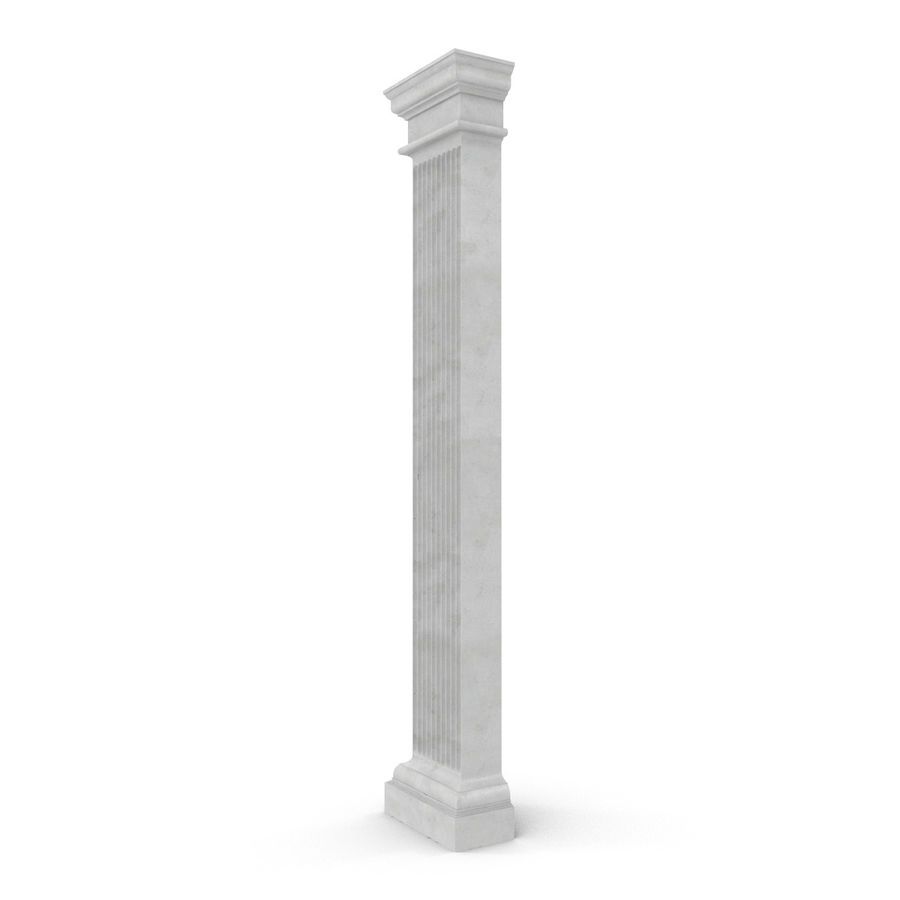 Pilaster Doric Greco Roman 3 3D Model royalty-free 3d model - Preview no. 4
