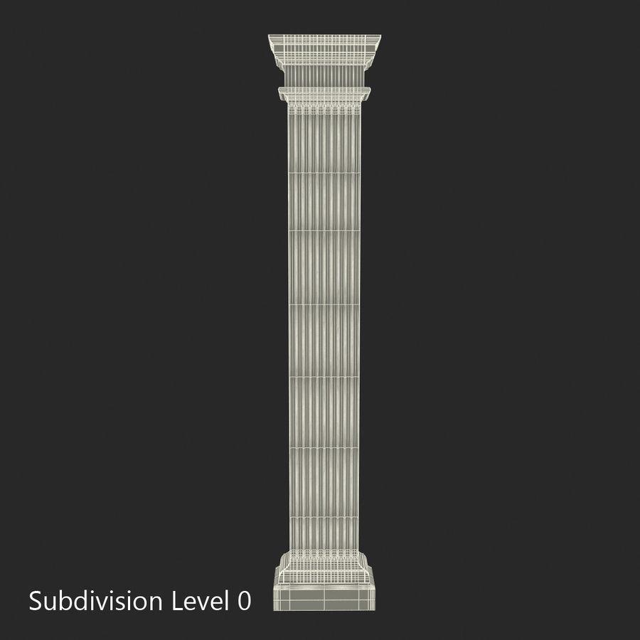 Pilaster Doric Greco Roman 3 3D Model royalty-free 3d model - Preview no. 12
