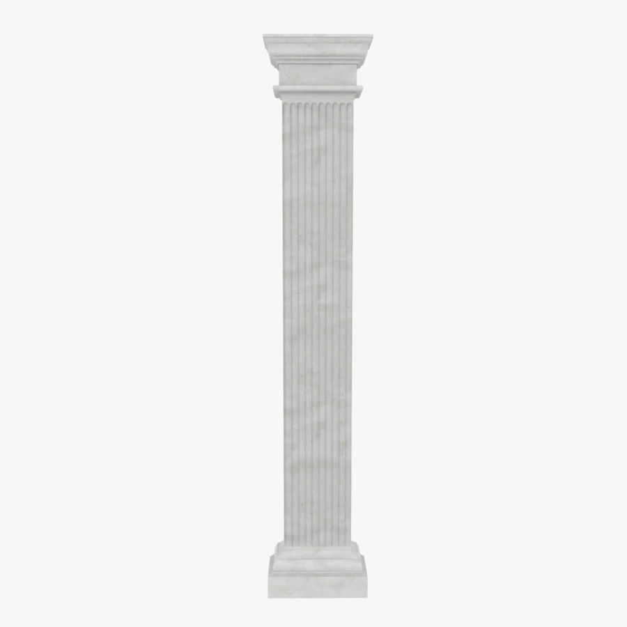 Pilaster Doric Greco Roman 3 3D Model royalty-free 3d model - Preview no. 1