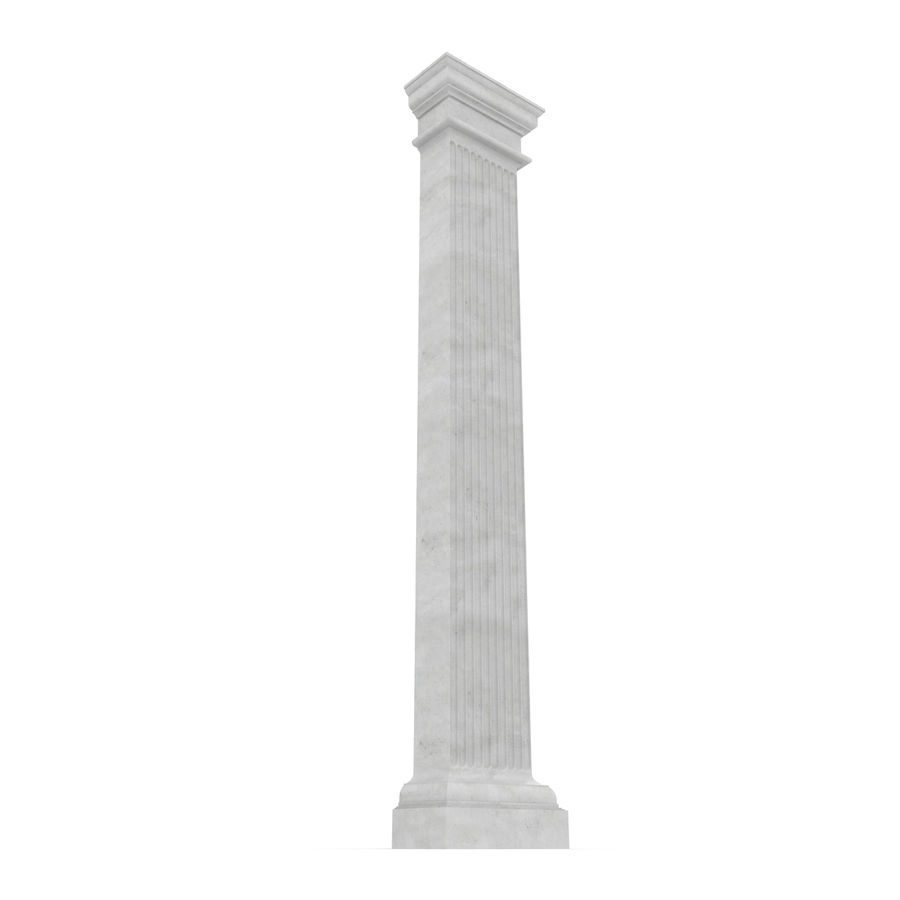 Pilaster Doric Greco Roman 3 3D Model royalty-free 3d model - Preview no. 5