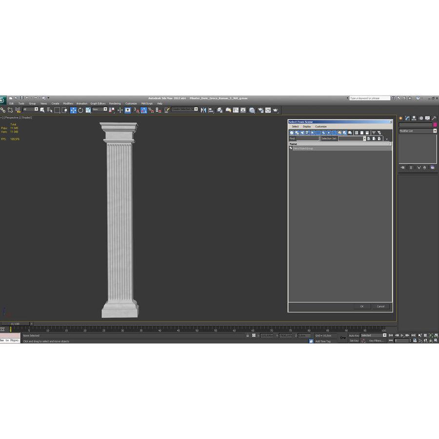 Pilaster Doric Greco Roman 3 3D Model royalty-free 3d model - Preview no. 11