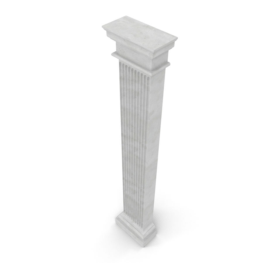 Pilaster Doric Greco Roman 3 3D Model royalty-free 3d model - Preview no. 7