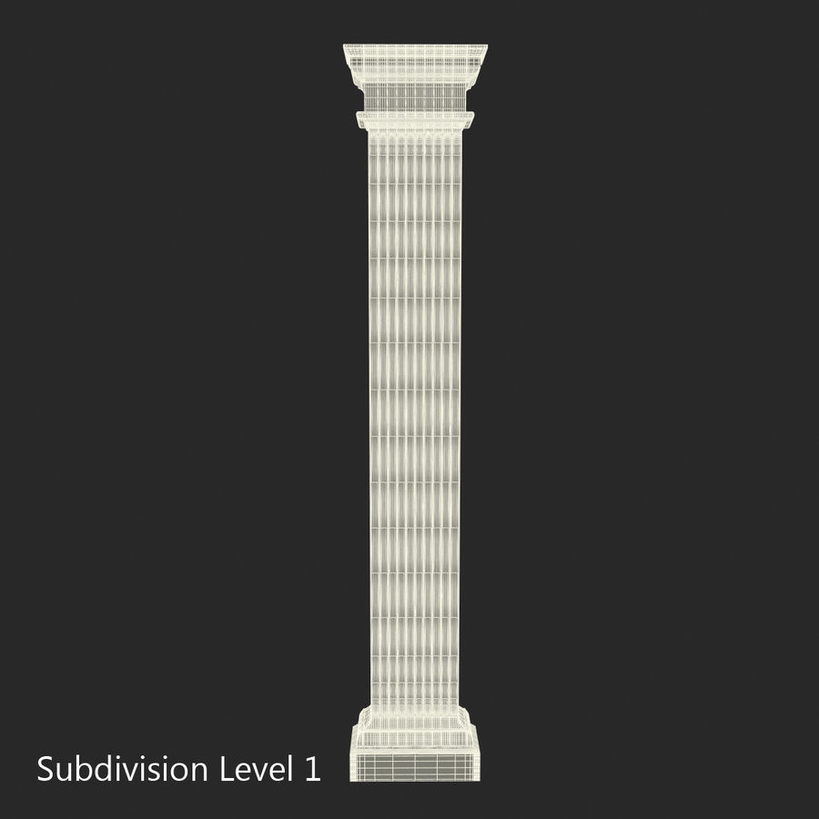 Pilaster Doric Greco Roman 3 3D Model royalty-free 3d model - Preview no. 13