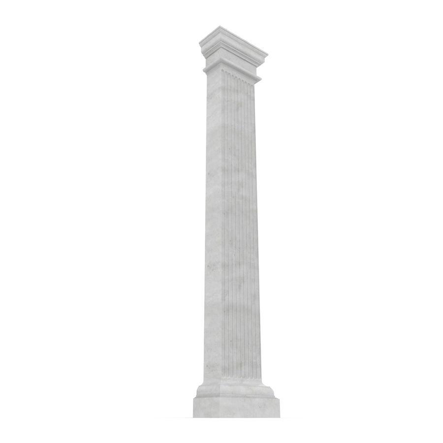Pilaster Doric Greco Roman 3 3D Model royalty-free 3d model - Preview no. 5