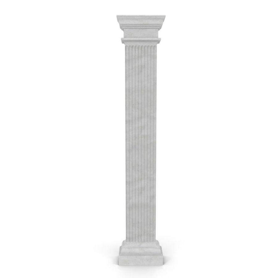 Pilaster Doric Greco Roman 3 3D Model royalty-free 3d model - Preview no. 2