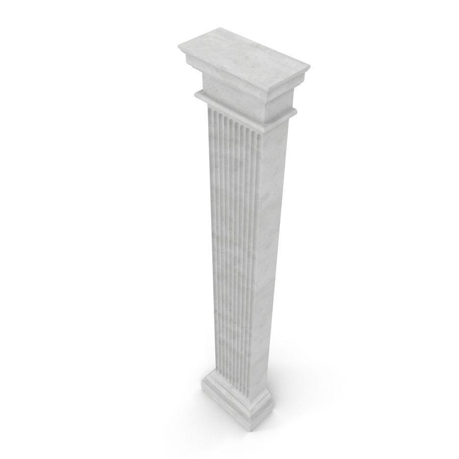 Pilaster Doric Greco Roman 3 3D Model royalty-free 3d model - Preview no. 7