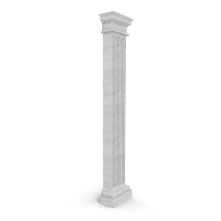 Pilaster Doric Greco Roman 3 3D Model royalty-free 3d model - Preview no. 3