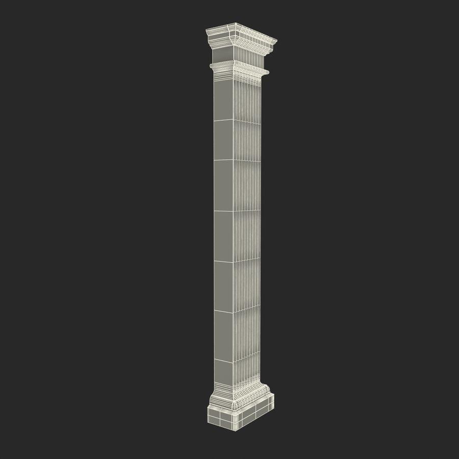 Pilaster Doric Greco Roman 3 3D Model royalty-free 3d model - Preview no. 14