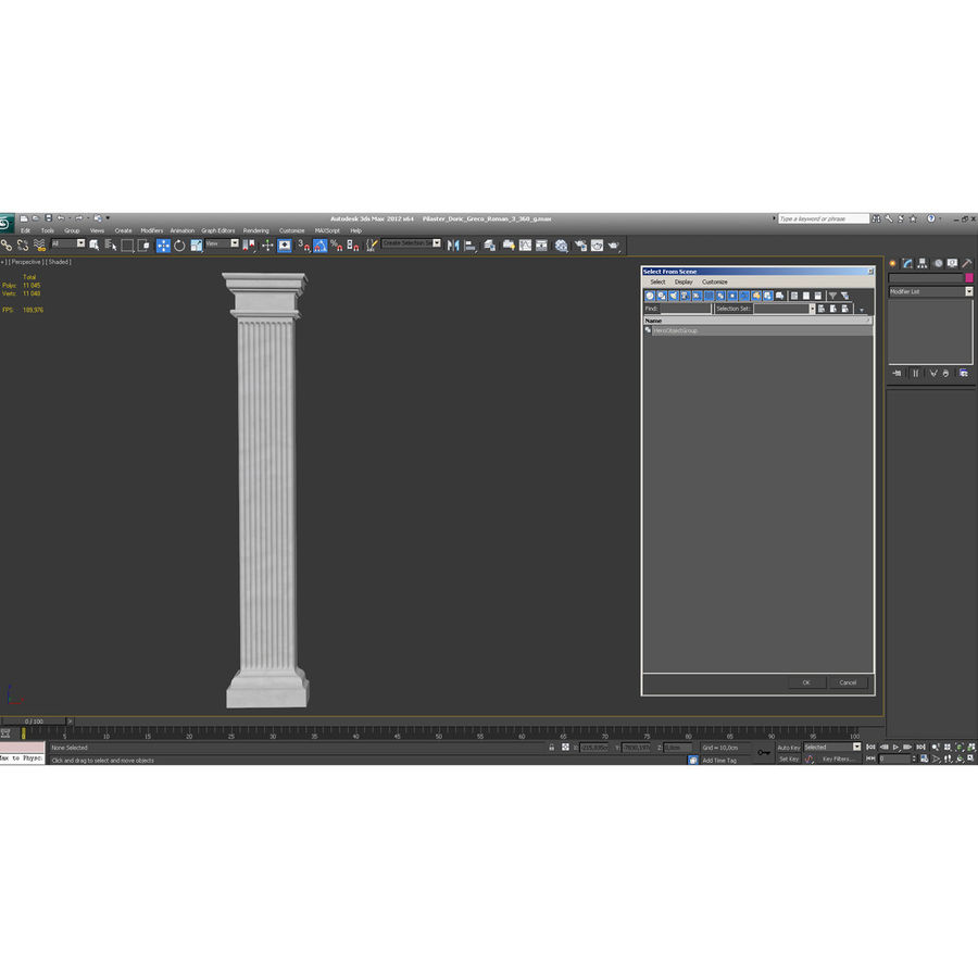 Pilaster Doric Greco Roman 3 3D Model royalty-free 3d model - Preview no. 11