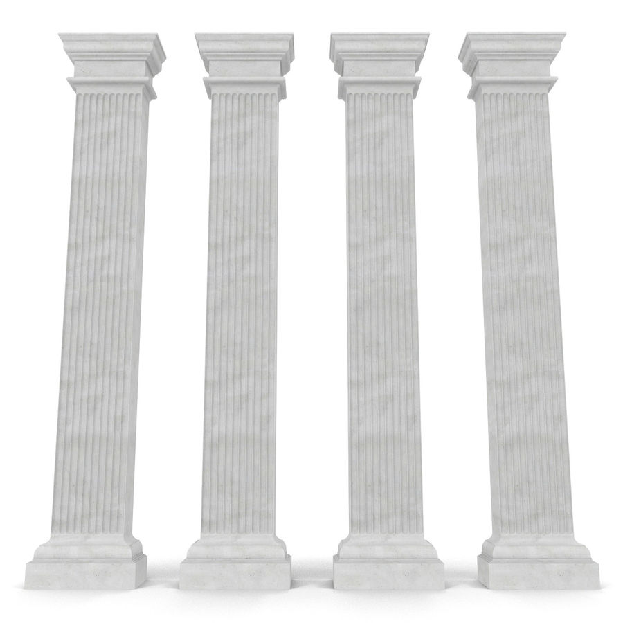 Pilaster Doric Greco Roman 3 3D Model royalty-free 3d model - Preview no. 8