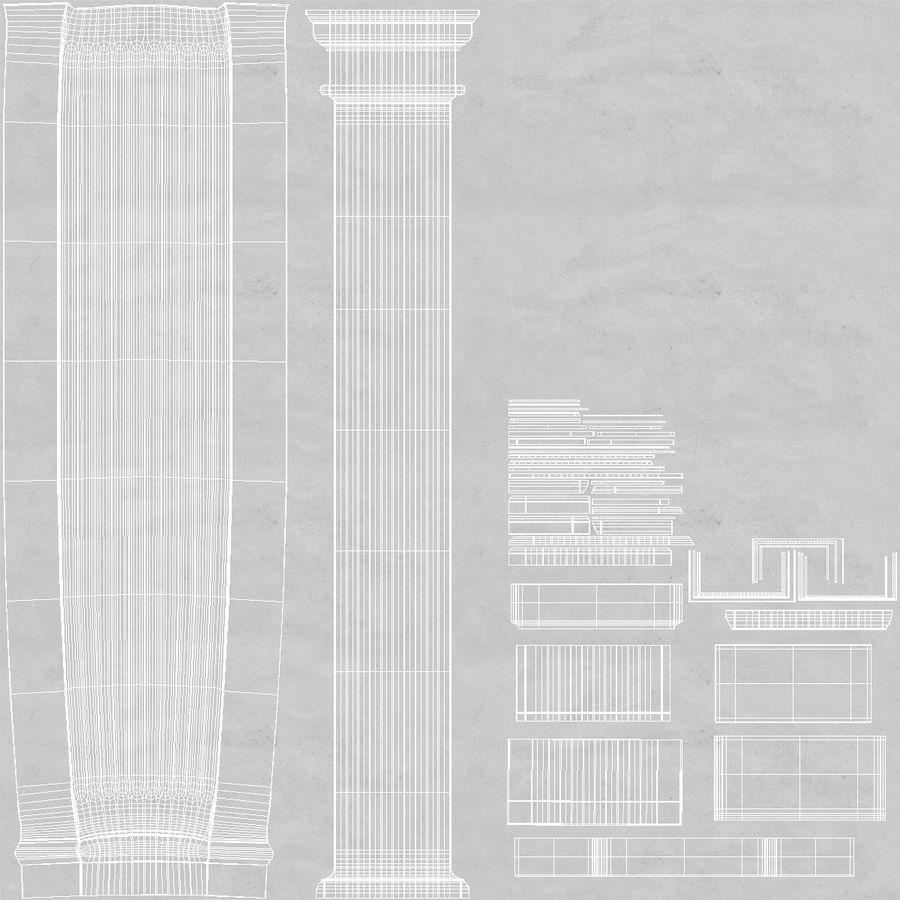 Pilaster Doric Greco Roman 3 3D Model royalty-free 3d model - Preview no. 9