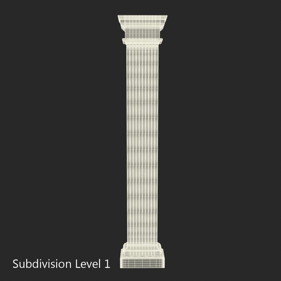 Pilaster Doric Greco Roman 3 3D Model royalty-free 3d model - Preview no. 13