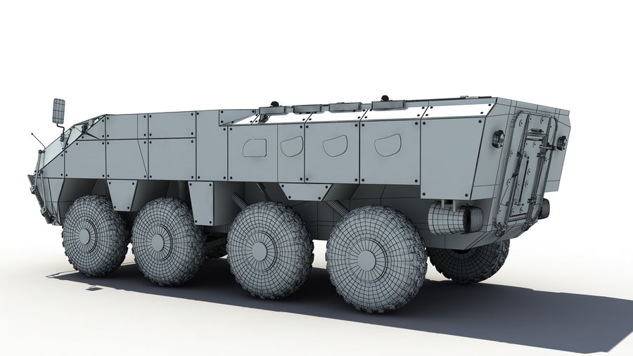 TATA Kestrel APC royalty-free 3d model - Preview no. 8