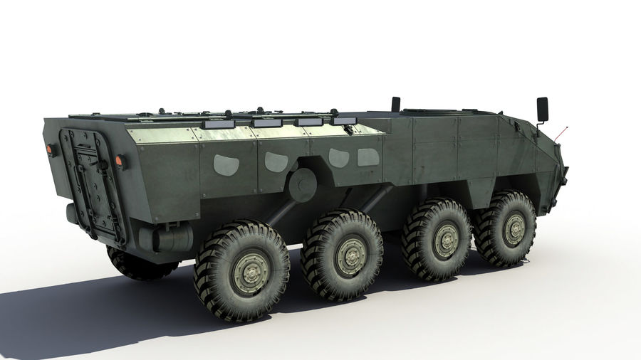 TATA Kestrel APC royalty-free 3d model - Preview no. 4