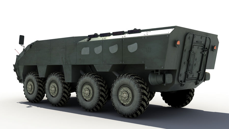 TATA Kestrel APC royalty-free 3d model - Preview no. 3