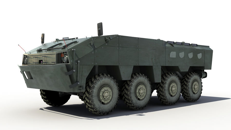 TATA Kestrel APC royalty-free 3d model - Preview no. 2