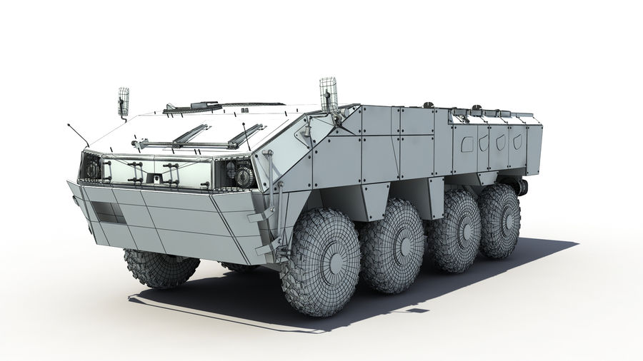 TATA Kestrel APC royalty-free 3d model - Preview no. 7
