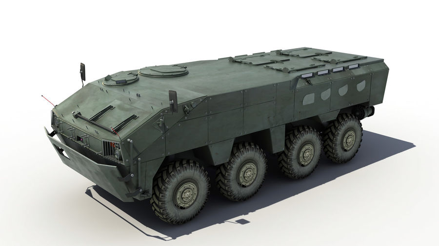TATA Kestrel APC royalty-free 3d model - Preview no. 6