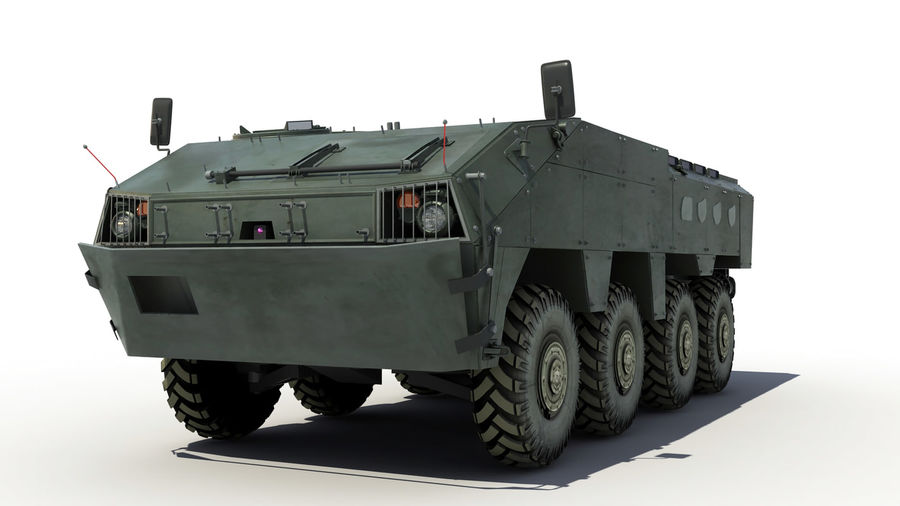 TATA Kestrel APC royalty-free 3d model - Preview no. 1