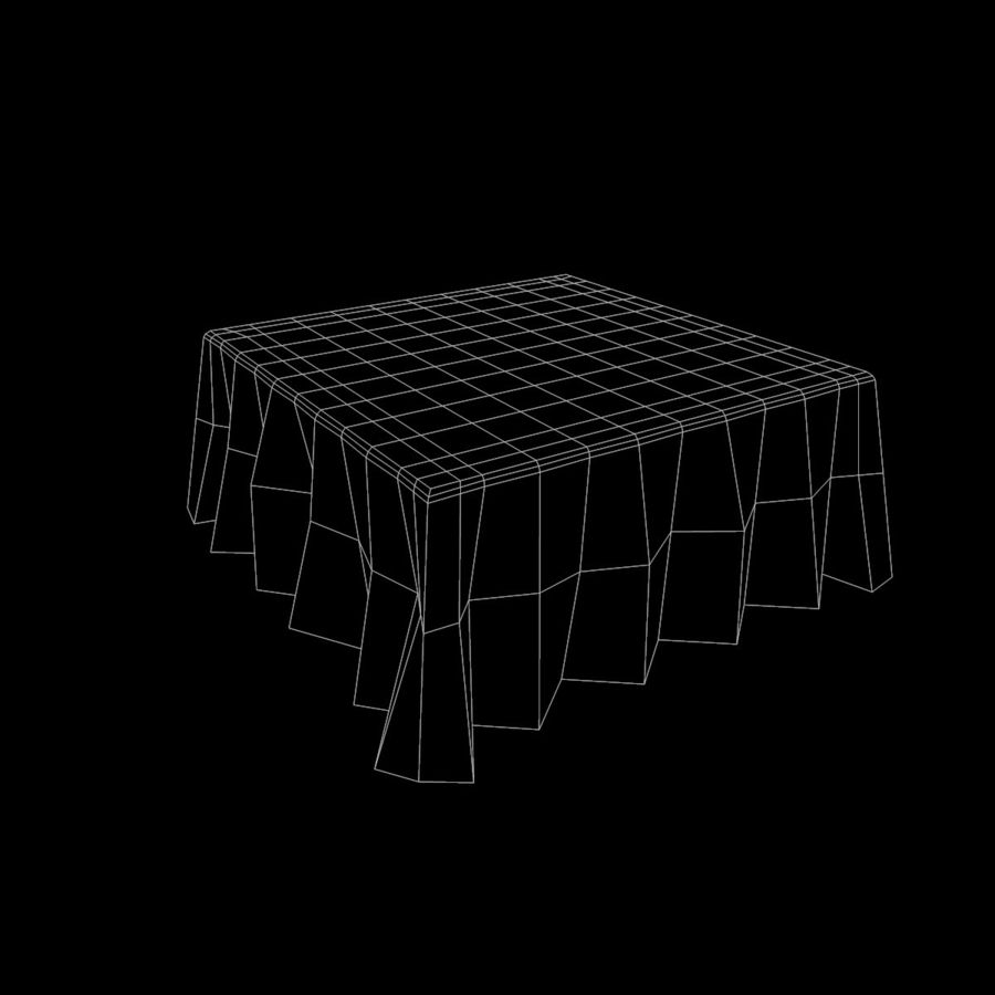 Square TableCloth royalty-free 3d model - Preview no. 7