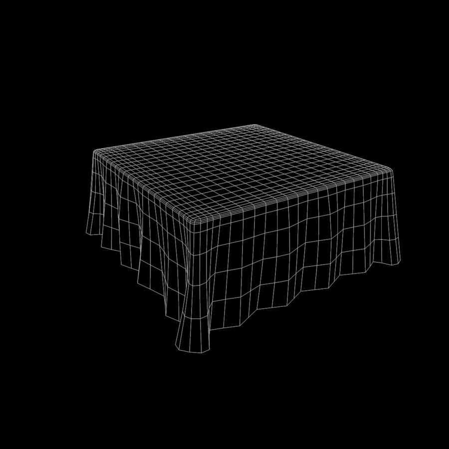 Square TableCloth royalty-free 3d model - Preview no. 8