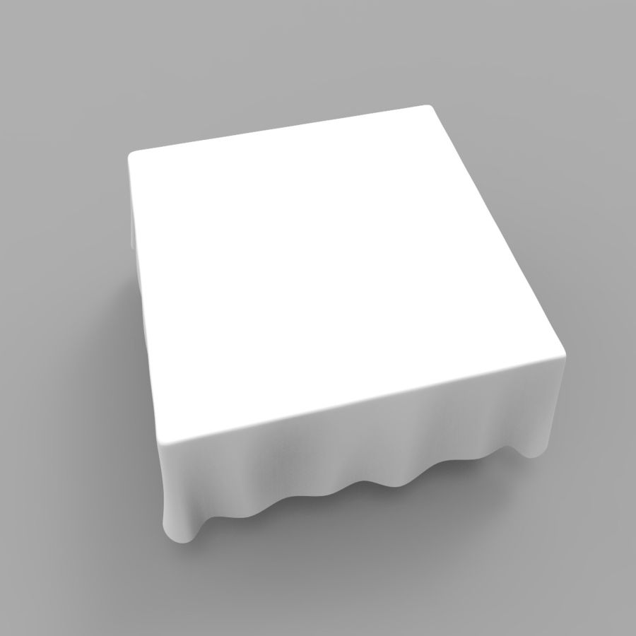 Square TableCloth royalty-free 3d model - Preview no. 5