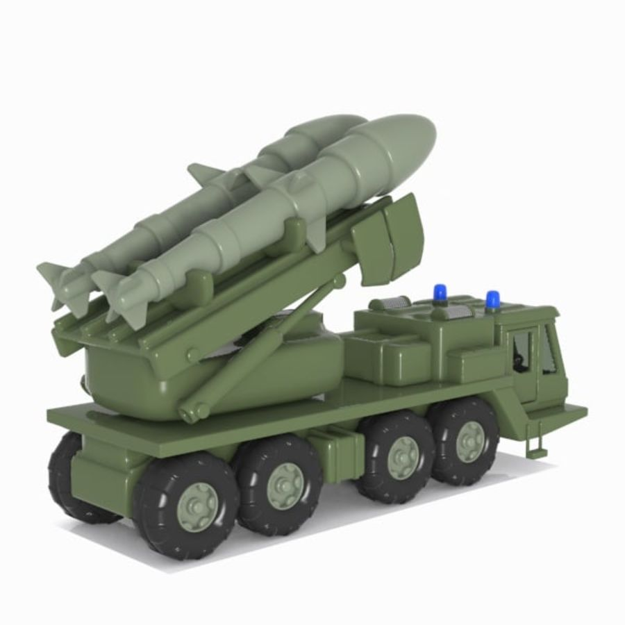 Cartoon Missile Vehicle 1 royalty-free 3d model - Preview no. 9