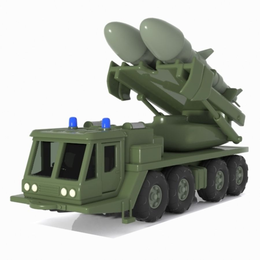 Cartoon Missile Vehicle 1 royalty-free 3d model - Preview no. 1