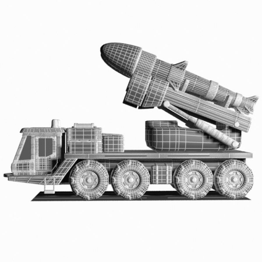 Cartoon Missile Vehicle 1 royalty-free 3d model - Preview no. 16