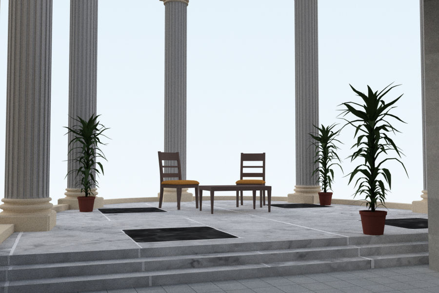 Villa_House_Interior and Exterior royalty-free 3d model - Preview no. 10