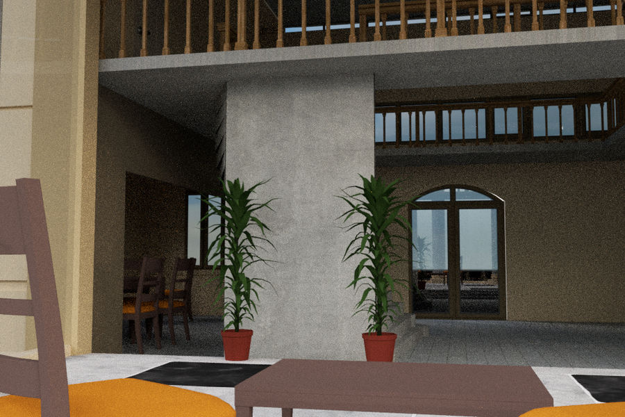 Villa_House_Interior and Exterior royalty-free 3d model - Preview no. 9