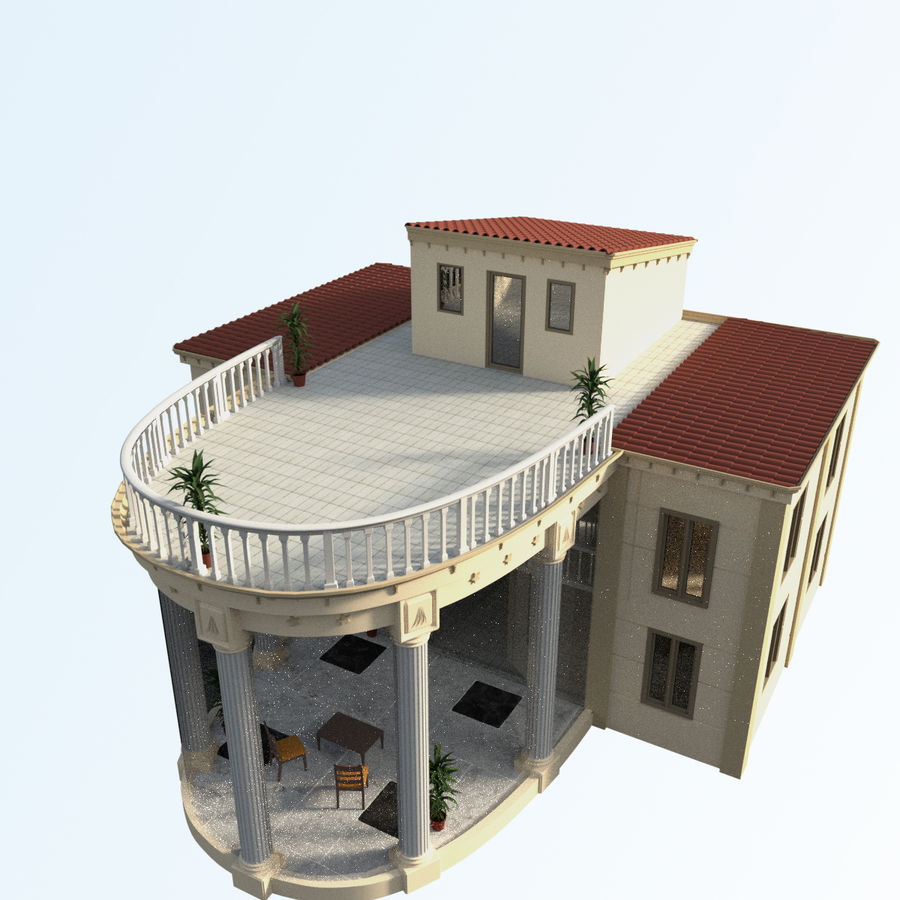 Villa_House_Interior and Exterior royalty-free 3d model - Preview no. 5