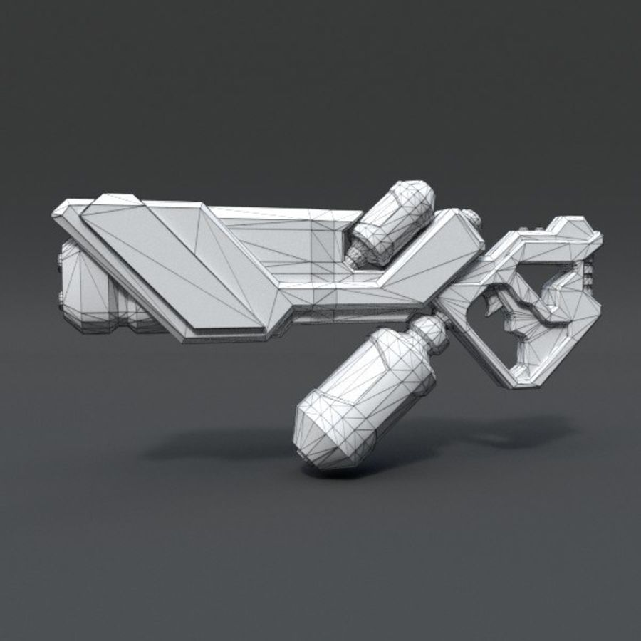 Scifi Rifle 03 royalty-free 3d model - Preview no. 2