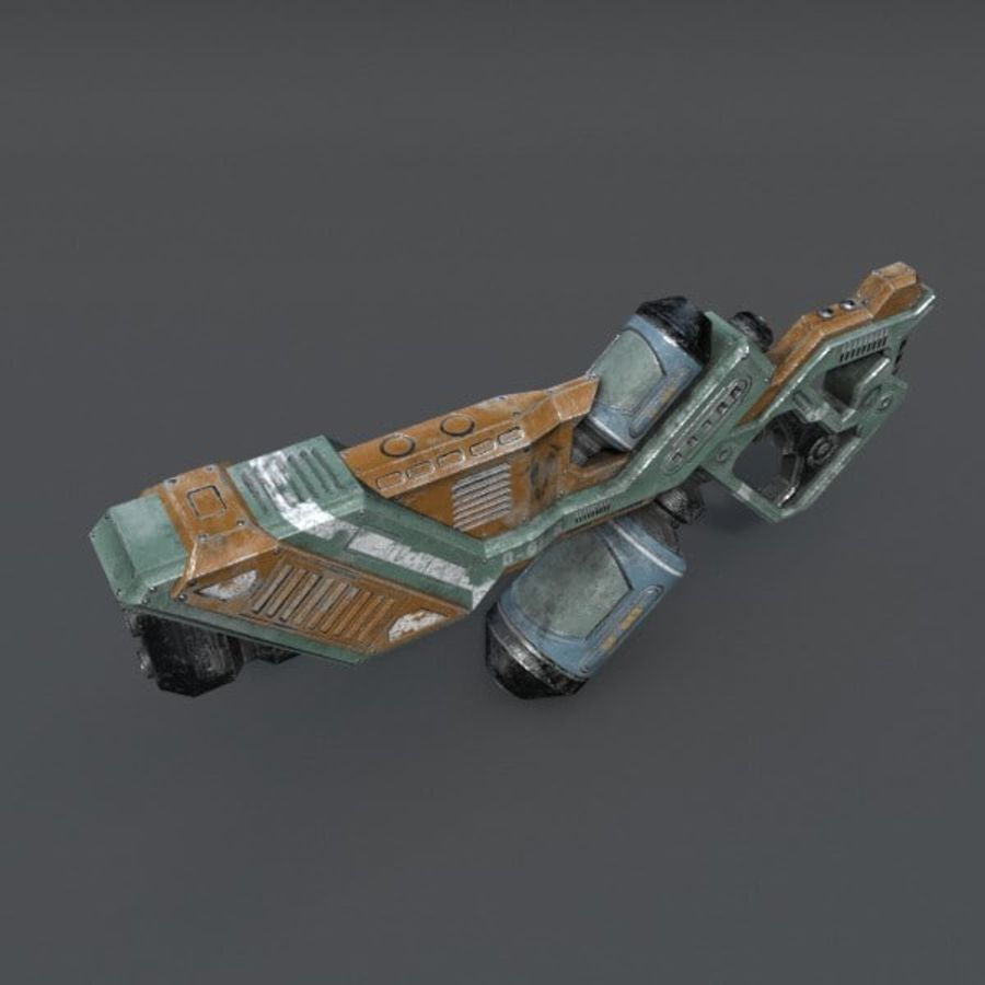 Scifi Rifle 03 royalty-free 3d model - Preview no. 9