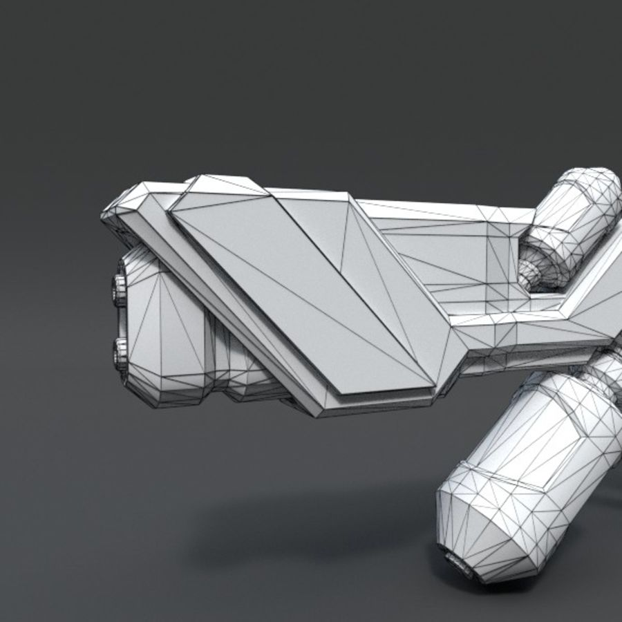 Scifi Rifle 03 royalty-free 3d model - Preview no. 4