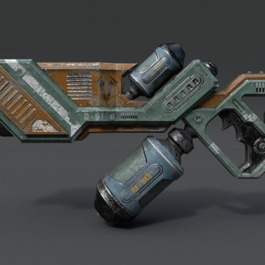 Scifi Rifle 03 royalty-free 3d model - Preview no. 5