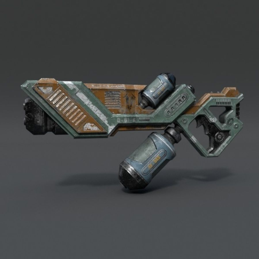 Scifi Rifle 03 royalty-free 3d model - Preview no. 1