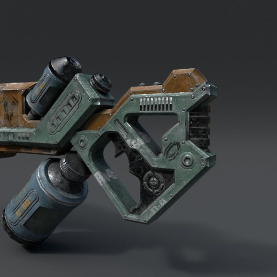 Scifi Rifle 03 royalty-free 3d model - Preview no. 7