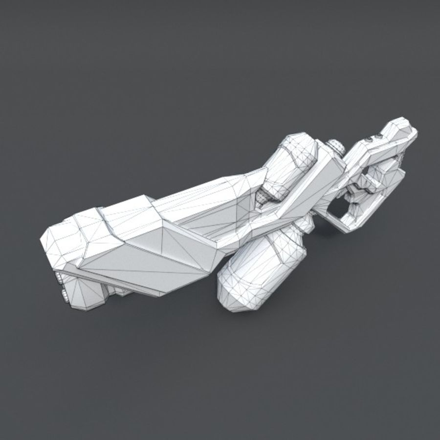 Scifi Rifle 03 royalty-free 3d model - Preview no. 10