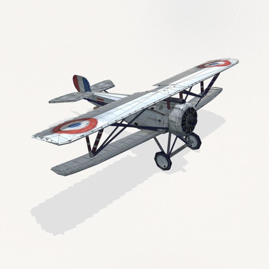 Nieuport 17 royalty-free 3d model - Preview no. 12