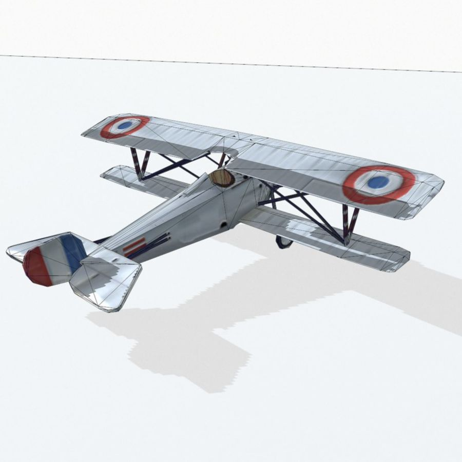 Nieuport 17 royalty-free 3d model - Preview no. 11