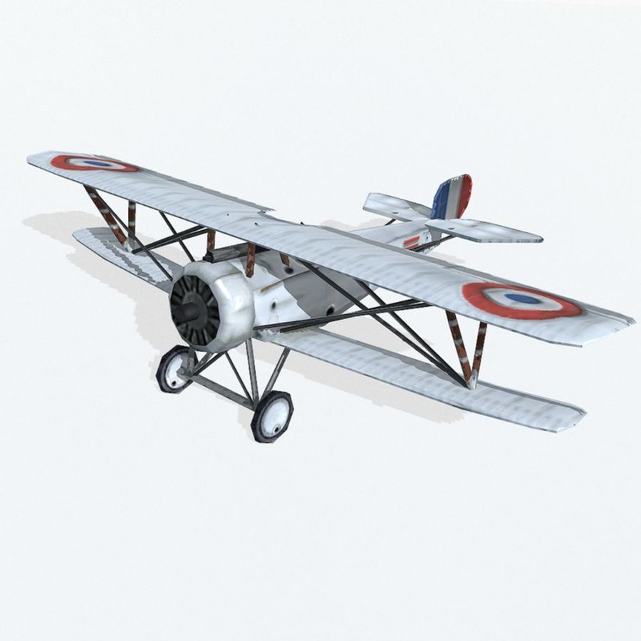 Nieuport 17 royalty-free 3d model - Preview no. 2