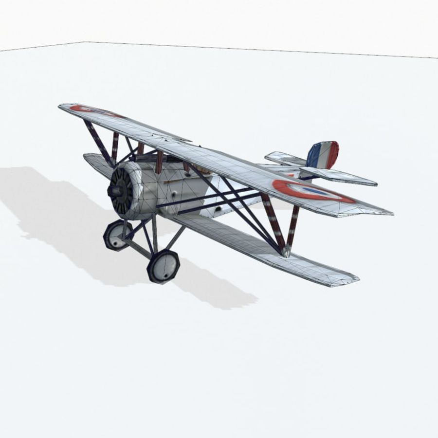 Nieuport 17 royalty-free 3d model - Preview no. 9