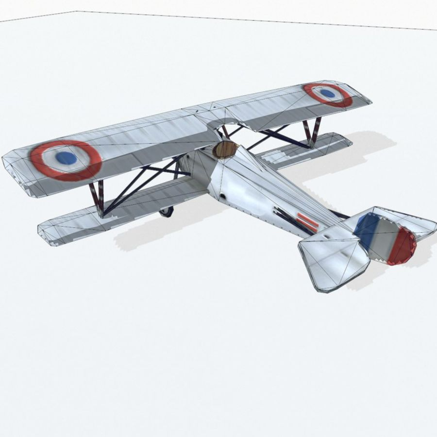 Nieuport 17 royalty-free 3d model - Preview no. 10