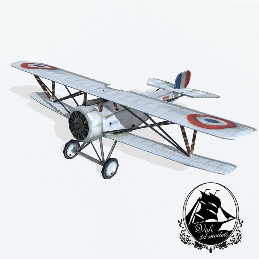 Nieuport 17 royalty-free 3d model - Preview no. 1