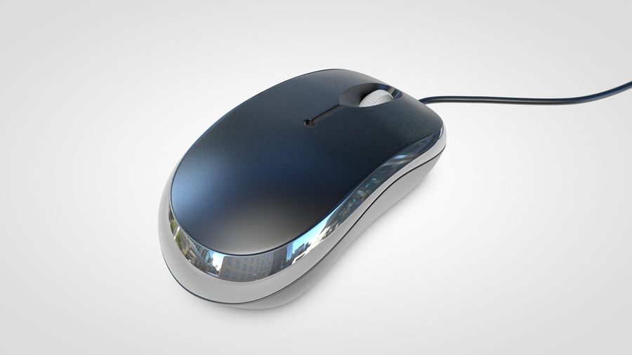 Computer Mouse royalty-free 3d model - Preview no. 7