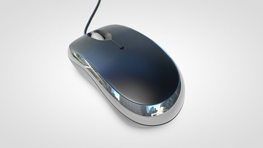 Computer Mouse royalty-free 3d model - Preview no. 9