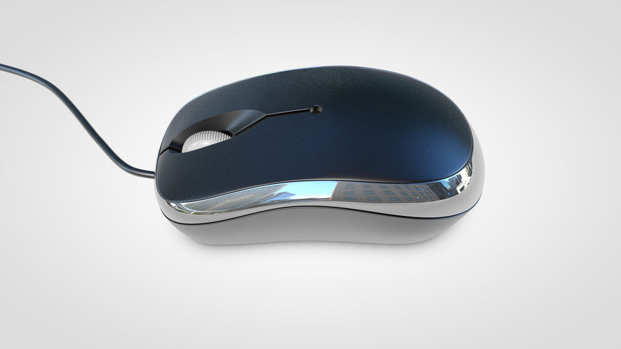 Computer Mouse royalty-free 3d model - Preview no. 8