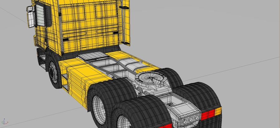 Truck Tractor Cab royalty-free 3d model - Preview no. 11